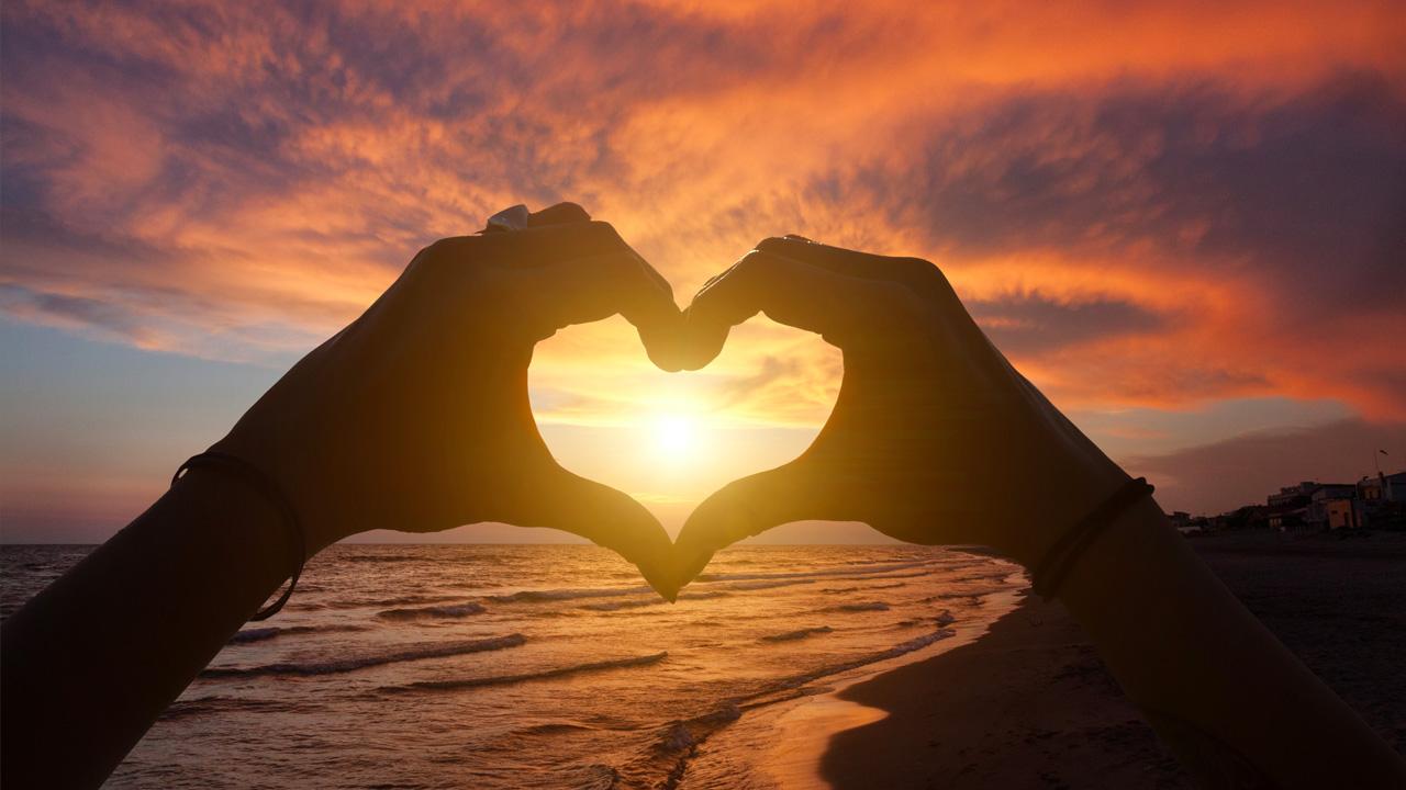 Картинка сердце на солнце